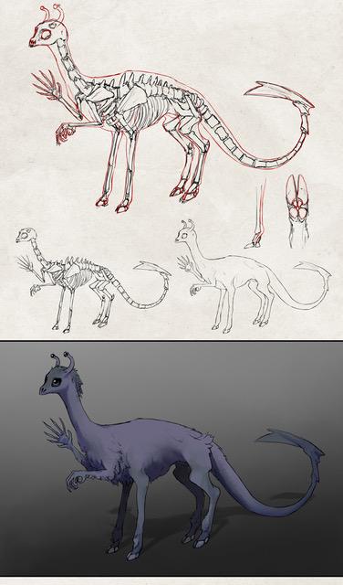 Andalite sketch by Jo Techsmith