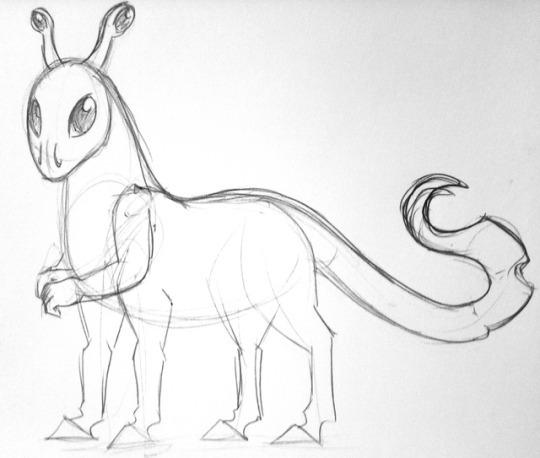 Andalite sketch by Kismeti